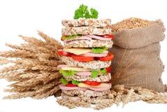 麦子大面包 免版税库存照片