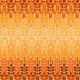 麦子无缝的样式 农业背景 免版税库存照片