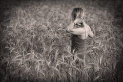 麦子的女孩 免版税库存照片