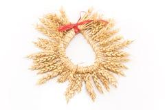 麦子的耳朵花圈  库存照片