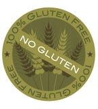 麦子茎100%面筋释放标签 免版税库存图片