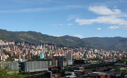 麦德林哥伦比亚 风景全景 库存照片