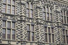 麦德林,安蒂奥基亚省/哥伦比亚- 2016年2月21日 劳动人民文化宫的建筑细节 免版税库存图片