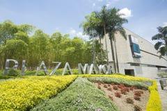 麦德林,安蒂奥基亚省/哥伦比亚- 2016年9月28日 广场市长、国际大会和会展中心 库存照片