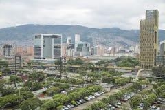 麦德林,安蒂奥基亚省/哥伦比亚-马约角16日2017年 市概要麦德林 麦德林是一个自治市在哥伦比亚 免版税库存图片
