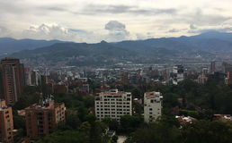 麦德林,第二个大城市在哥伦比亚 免版税库存图片