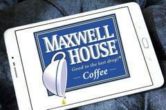 麦斯威尔咖啡咖啡商标 免版税库存照片