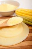 麦片粥玉米mais面粉奶油 免版税图库摄影