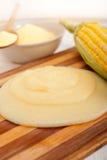 麦片粥玉米mais面粉奶油 库存照片