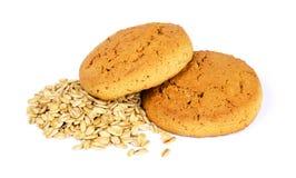 麦甜饼和燕麦剥落 库存图片