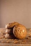 麦甜饼有木背景 免版税图库摄影