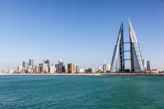 麦纳麦地平线,巴林的王国 库存图片