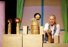 在打喷嚏的Firas展示的木偶 库存图片