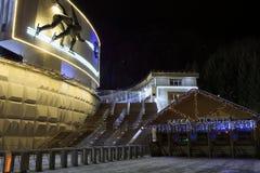 麦迪奥滑雪体育场 库存照片