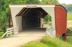 麦迪逊县最著名的雪松桥梁桥梁  免版税图库摄影