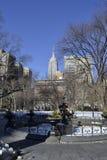 从麦迪逊广场公园的帝国大厦 免版税图库摄影