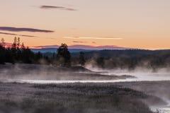 麦迪逊风景河的日出 库存图片
