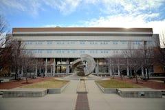 麦迪逊, WI - 2015年1月1日, :工程学霍尔-威斯康星大学,麦迪逊校园 免版税库存照片