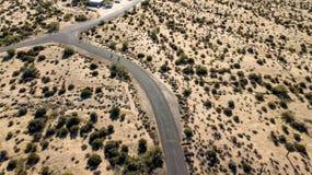 麦道威尔地方公园鸟瞰图看法在菲尼斯,亚利桑那附近的 库存图片