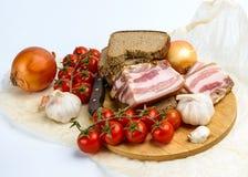 黑麦面包三明治用烟肉 库存照片