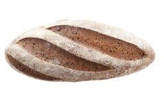 黑麦面包大面包在白色背景孤立的 库存图片