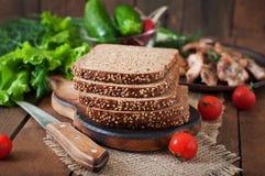黑麦面包用麸皮 免版税库存图片