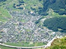 麦从Gonzen山观看 免版税库存照片