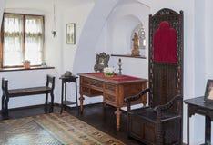 麸皮城堡办公室的片段在麸皮城市在罗马尼亚 免版税库存图片