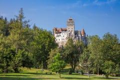 麸皮城堡在特兰西瓦尼亚罗马尼亚 库存图片