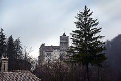 麸皮城堡德雷库拉・罗马尼亚 库存照片
