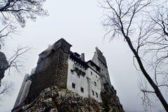 麸皮城堡德雷库拉・罗马尼亚 免版税库存照片