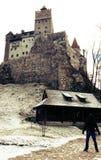 麸皮城堡德雷库拉` s城堡,特兰西瓦尼亚,罗马尼亚 库存照片