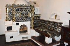 麸皮城堡的博物馆,德雷库拉城堡,罗马尼亚 库存图片
