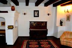 麸皮城堡的博物馆,德雷库拉城堡,罗马尼亚 免版税图库摄影