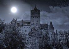 麸皮城堡罗马尼亚 库存照片