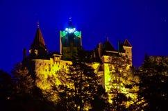 麸皮城堡计数德雷库拉・罗马尼亚s 库存照片