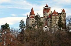 麸皮城堡,叫作德雷库拉城堡 库存照片