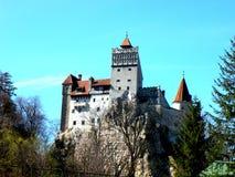 麸皮城堡,在布拉索夫附近,德雷库拉城堡  免版税图库摄影