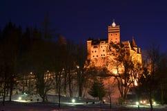 麸皮城堡,德雷库拉城堡,特兰西瓦尼亚,罗马尼亚 免版税库存照片