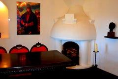 麸皮城堡,德雷库拉,布拉索夫,特兰西瓦尼亚的家博物馆  图库摄影