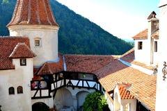 麸皮城堡,德雷库拉,布拉索夫,特兰西瓦尼亚的家 库存照片