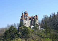 麸皮城堡,特兰西瓦尼亚(德雷库拉` s城堡) 图库摄影