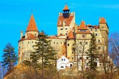 麸皮城堡,罗马尼亚,已知为德雷库拉故事  免版税图库摄影