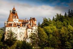 麸皮城堡,罗马尼亚,特兰西瓦尼亚联合德雷库拉 免版税库存照片