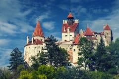 麸皮城堡, Transylvania罗马尼亚,电话样式 图库摄影