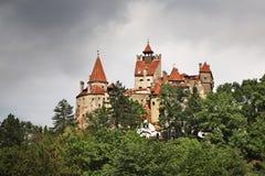 麸皮城堡(德雷库拉城堡) 罗马尼亚 图库摄影
