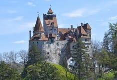麸皮城堡-德雷库拉` s城堡 免版税库存照片