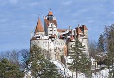 麸皮城堡-德雷库拉` s城堡 免版税库存图片