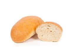 麸皮面包查出的大面包白色 免版税库存照片
