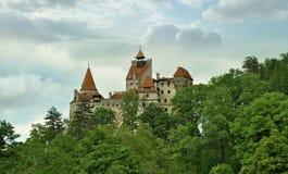 麸皮,罗马尼亚 2018年5月19日 城堡在麸皮城市 免版税库存照片